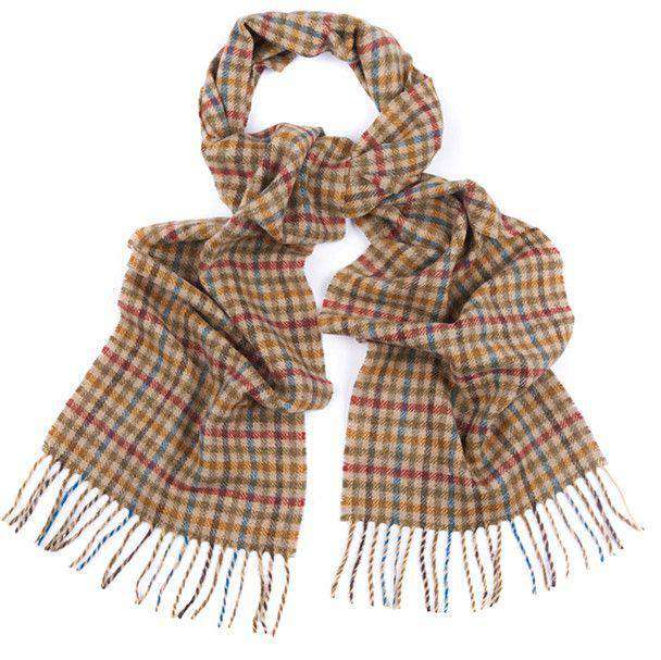 Houghton Check Scarf in Rust Blue Shepherd by Barbour - FINAL SALE