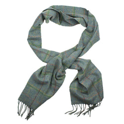 Scarves - Newmarket Plaid Scarf In Blue By Barbour