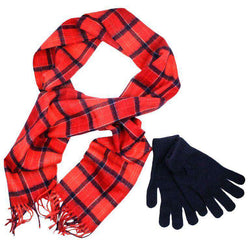Scarves - Scarf And Gloves Gift Box In Cardinal By Barbour
