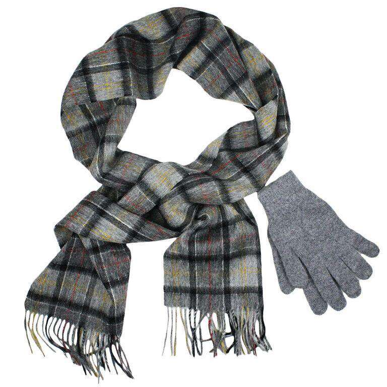 Scarf and Gloves Gift Box in Modern Grey by Barbour