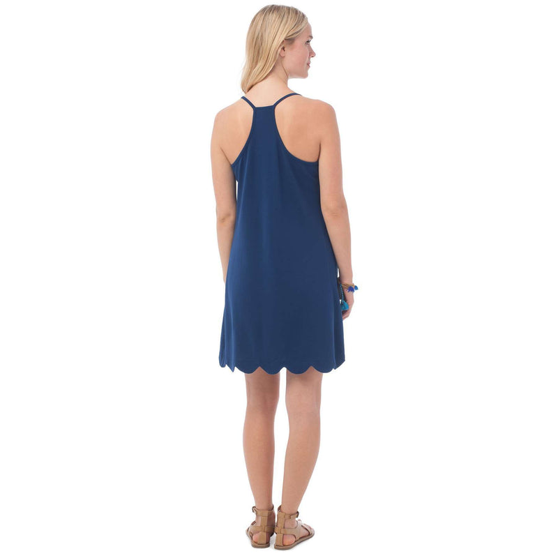 Sea Breeze Scallop Sundress in Yacht Blue by Southern Tide - FINAL SALE
