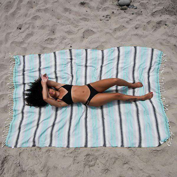 Sand Cloud XL Mint Baja Towel by Sand Cloud