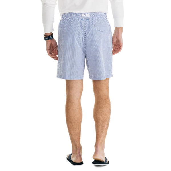 Seersucker Swim Trunk in Legacy Blue by Southern Tide