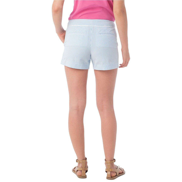 Piper Seersucker Short in Boat Blue by Southern Tide  - 2