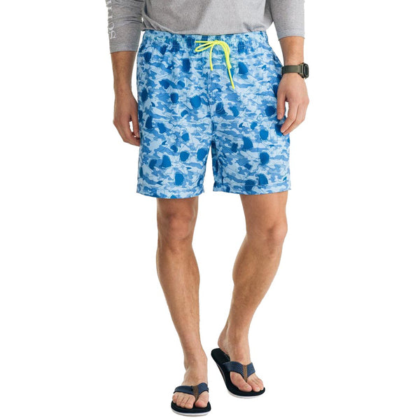 Shark Frenzy Swim Trunk by Southern Tide