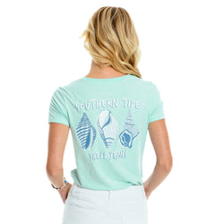 Shell Yeah Heather Ladies' Fitted Tee Shirt by Southern Tide