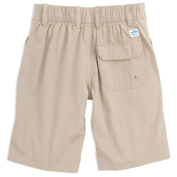 Youth Tide to Trail Performance Water Shorts in Sandstone Khaki by Southern Tide