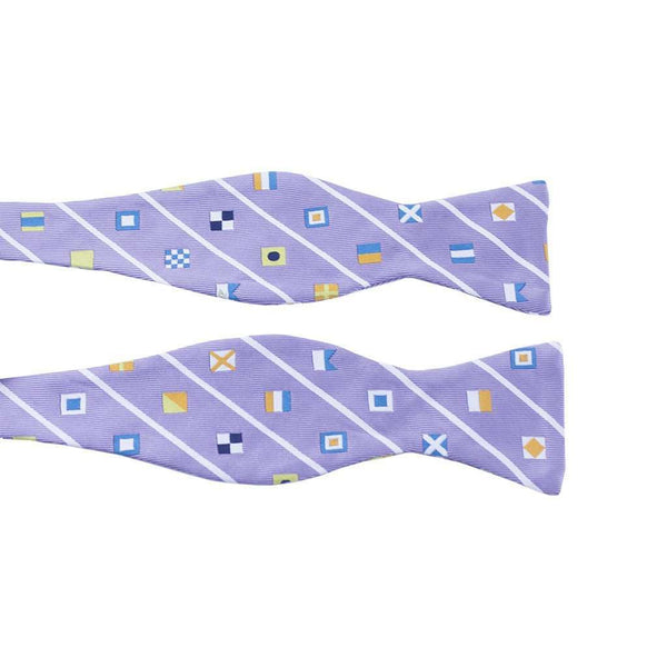 Signal Flag Bow Tie in Purple by Anchored Style