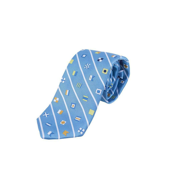 Signal Flag Neck Tie in Aqua by Anchored Style
