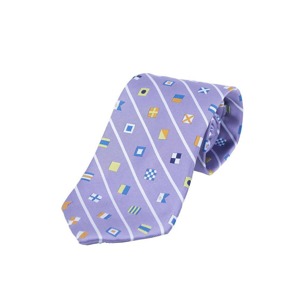 Signal Flag Neck Tie in Purple by Anchored Style