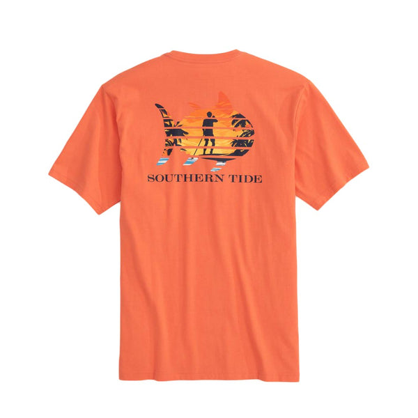 Skipjack Paddleboard Sunset Tee Shirt by Southern Tide