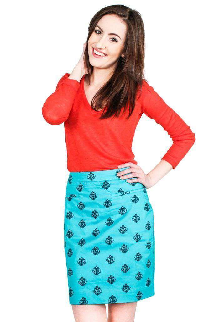 Skirts - Aqua Thistle Skirt By Hatley - FINAL SALE