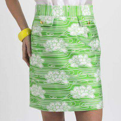 Skirts - Brunch Skirt In Floral Green By Elizabeth McKay - FINAL SALE
