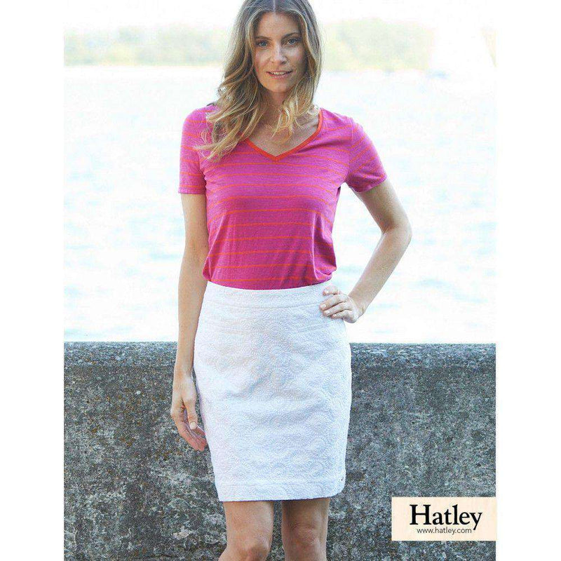 Skirts - Embroidered Sateen Skirt In White By Hatley - FINAL SALE