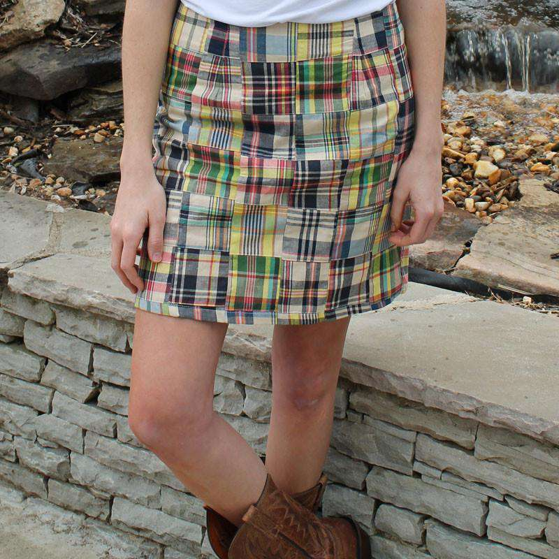 Skirts - Lucy Skirt In Great Island Madras By Just Madras