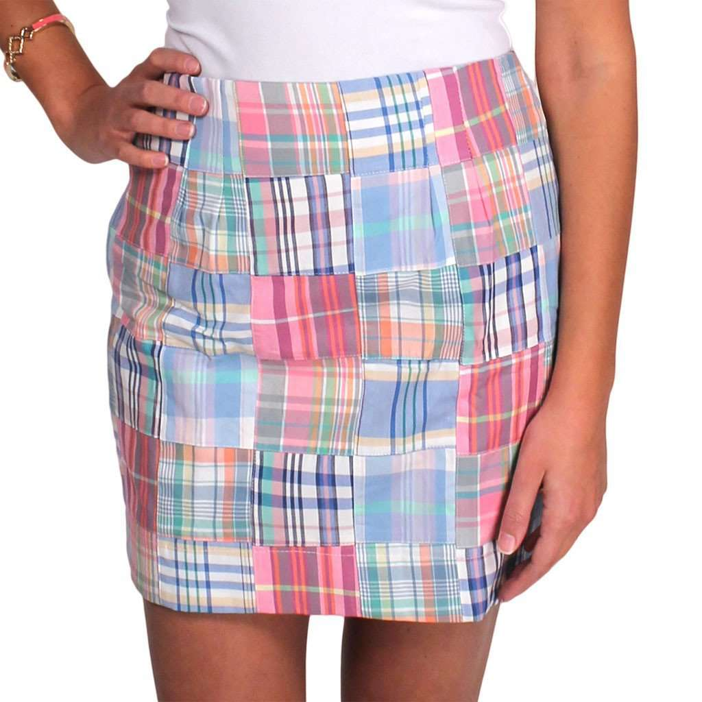 Skirts - Lucy Skirt In St. Simon Patchwork Madras By Just Madras