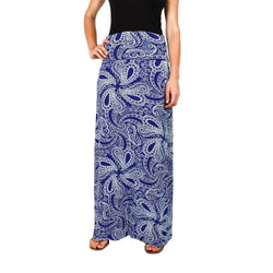 Skirts - Maxi Skirt In Blue Paisley By Hiho - FINAL SALE