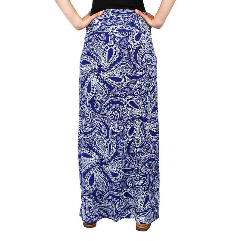 Maxi Skirt in Blue Paisley by Hiho - FINAL SALE