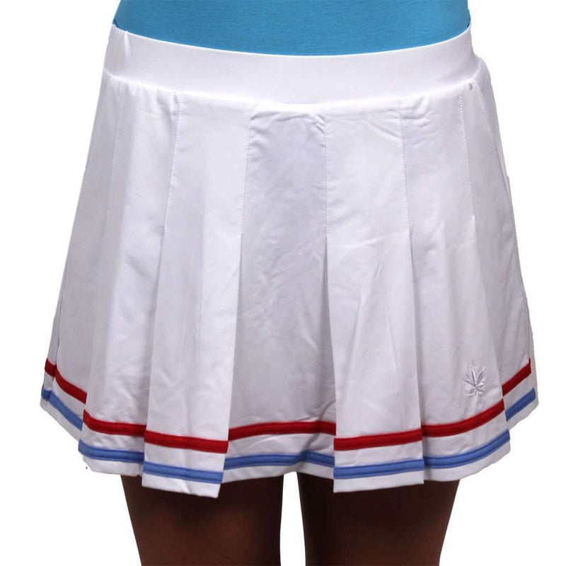 Skirts - Pleated Court Skort In Red, White & Blue By Boast - FINAL SALE