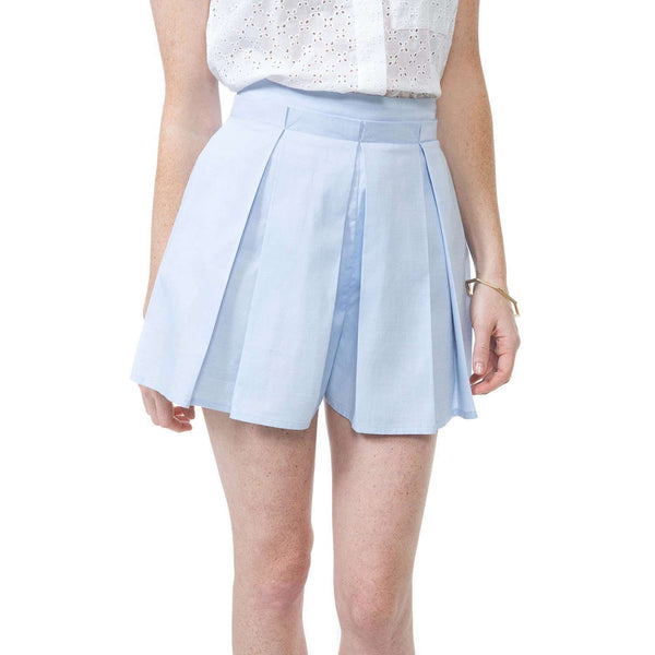 Skirts - Sarah Skort In Blue Chambray By Southern Proper - FINAL SALE