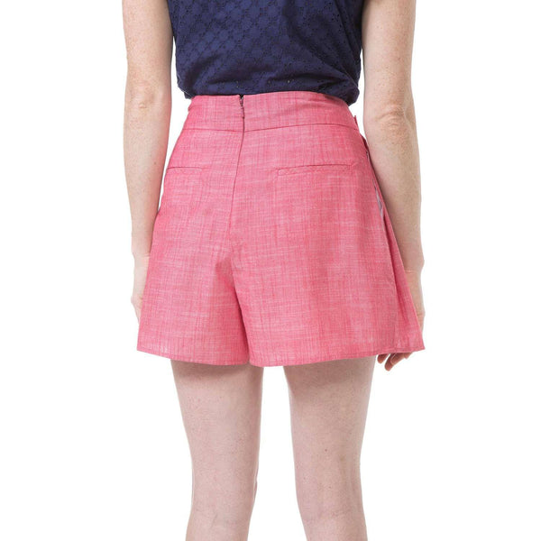 Skirts - Sarah Skort In Red Chambray By Southern Proper - FINAL SALE