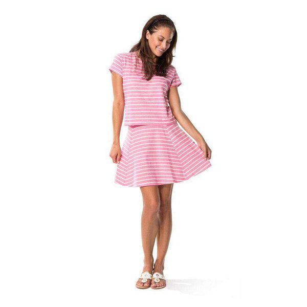 Skirts - Textured Knit Stripe Skirt In Pink By Sail To Sable