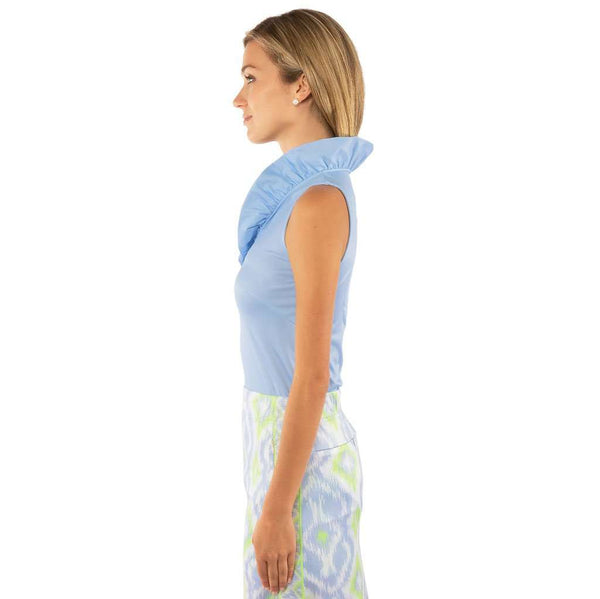 Gretchen Scott Designs Jersey Sleeveless Ruffneck Top by Gretchen Scott Designs