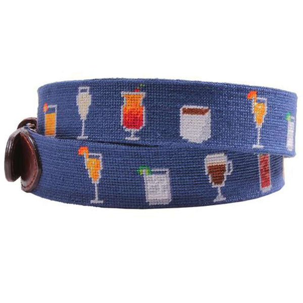 Morning Buzz Needlepoint Belt in Classic Navy by Smathers & Branson