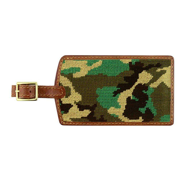 Camo Needlepoint Luggage Tag by Smathers & Branson