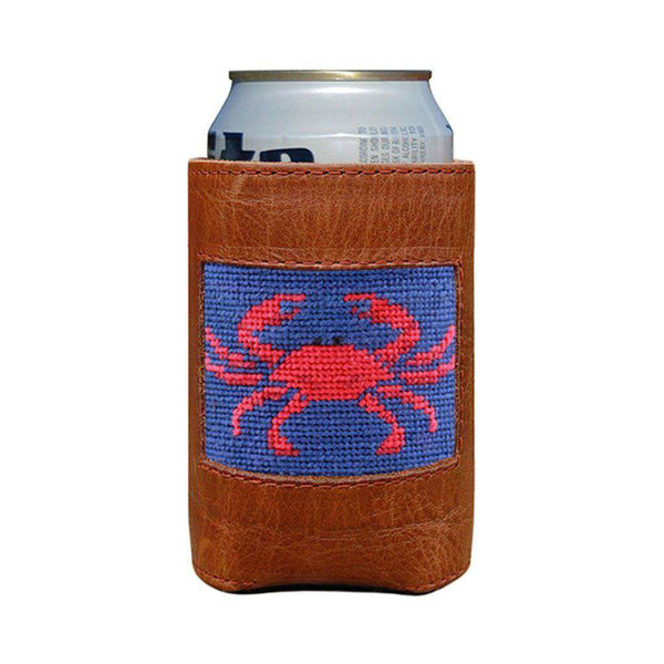 Crab Needlepoint Can Holder in Classic Navy by Smathers & Branson