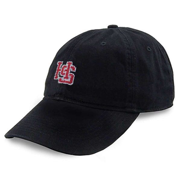 Hampden Sydney College Needlepoint Hat in Black by Smathers & Branson