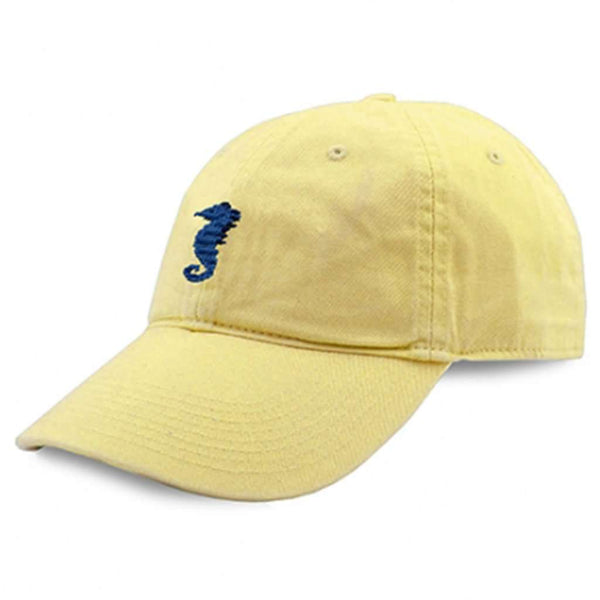 Seahorse Needlepoint Hat in Butter by Smathers & Branson