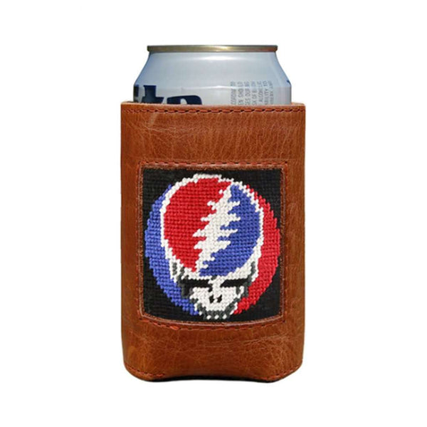 Steal Your Face Needlepoint Can Holder in Black by Smathers & Branson