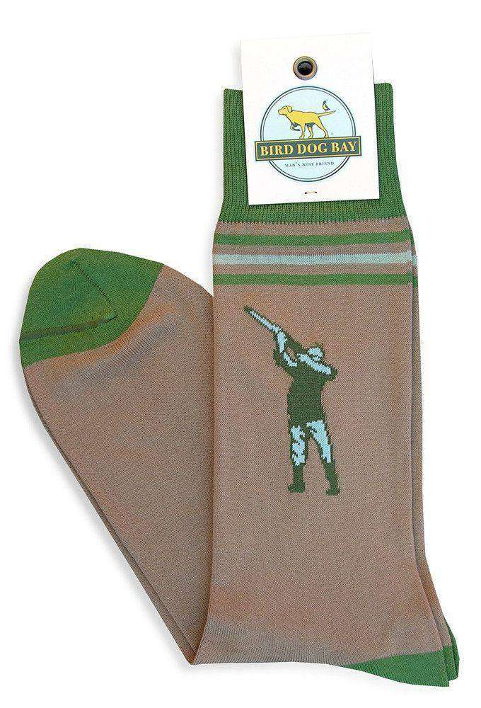 Socks - Aim High Sporting Socks In Khaki By Bird Dog Bay