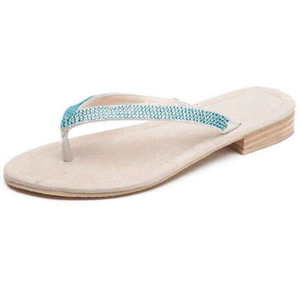 Sophie Flat in Aquamarine by Savi Resort Wear  - 2