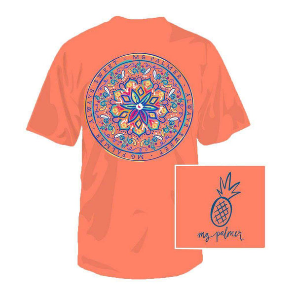 Southern Fried Cotton Change Your Scope Tee in Bright Coral