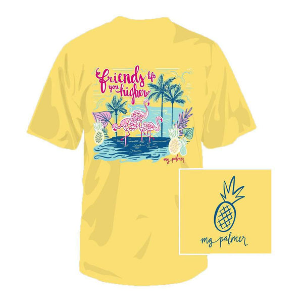 Flamingo Friends Tee in Banana by Southern Fried Cotton