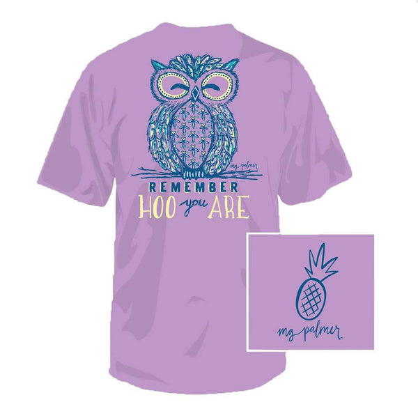 Southern Fried Cotton Hoo You Are Tee in Lavender