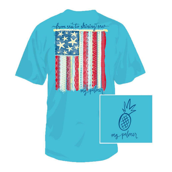 Southern Fried Cotton Sea to Shining Sea Tee in Pool