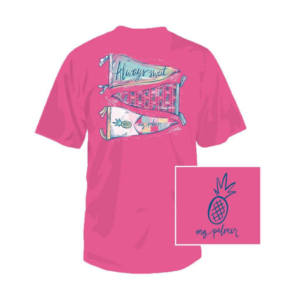 Team MG Palmer Tee in Hot Pink by Southern Fried Cotton