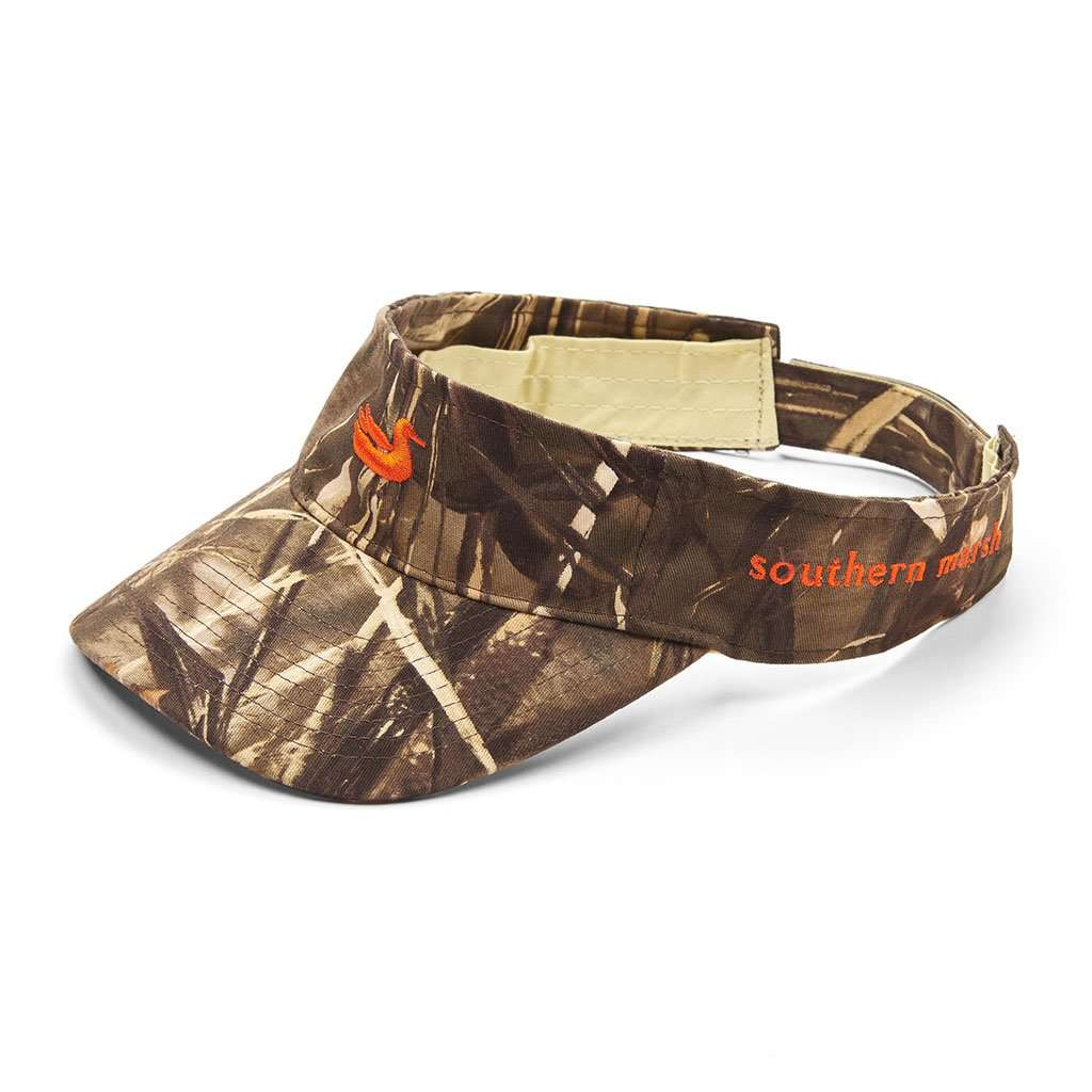 Sotuhern Marsh Realtree Max Camo Visor with Orange Duck