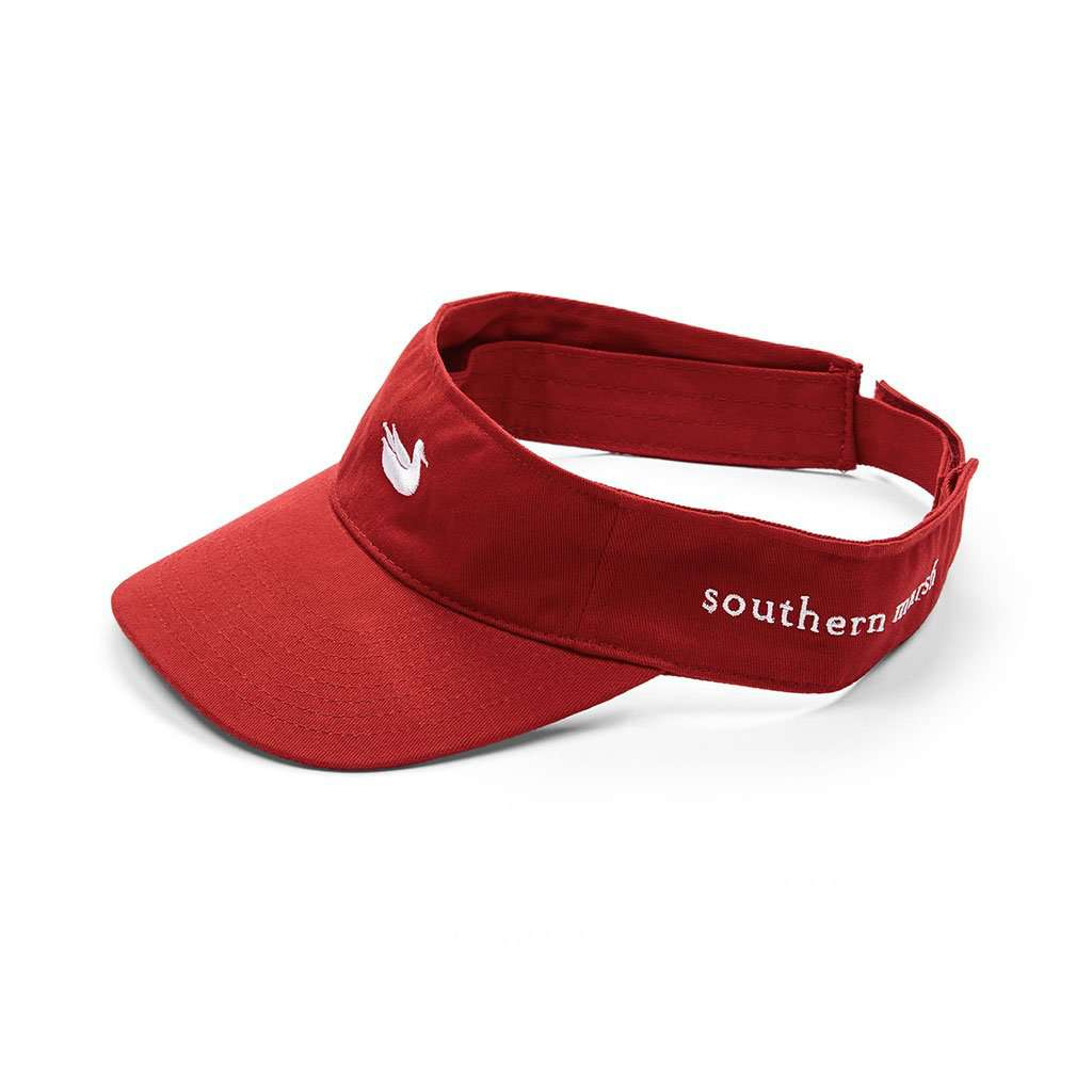 Southern Marsh Visor in Crimson with White Duck
