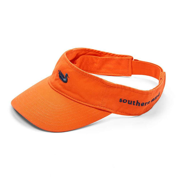 Southern Marsh Visor in Orange with Navy Duck