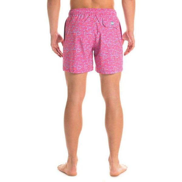 Bermuda Swim Trunks in Mai Tai by The Southern Shirt Co.. - FINAL SALE