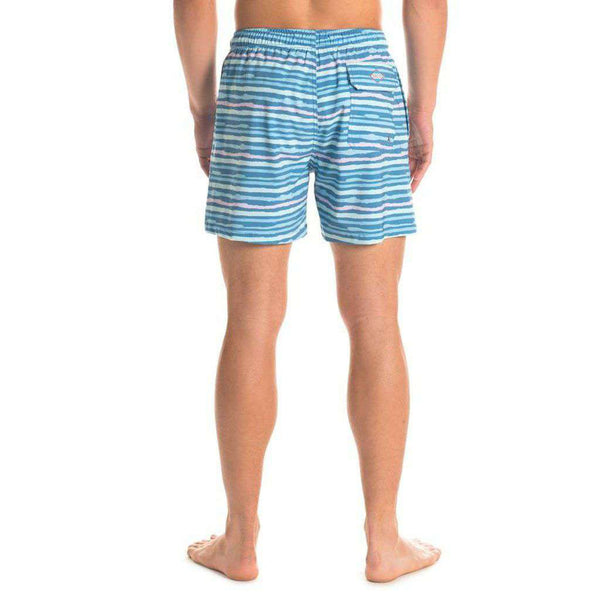 Bermuda Swim Trunks in Waverunner by The Southern Shirt Co.. - FINAL SALE
