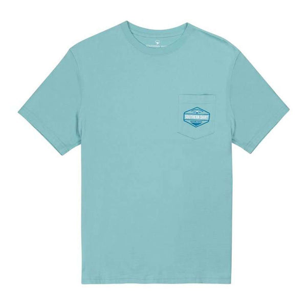 The Southern Shirt Co. Grateful Red SS in Chalky Blue by The Southern Shirt Co..
