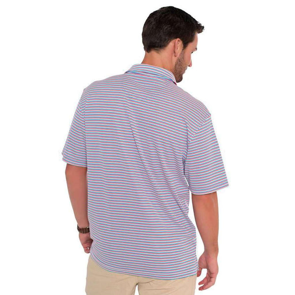 Halstead Stripe Polo in Old Glory by The Southern Shirt Co.. - FINAL SALE