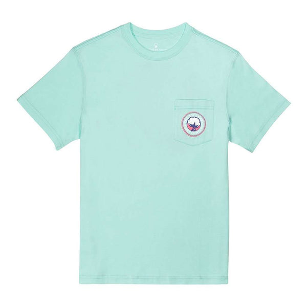 Jewel Logo SS in Aqua Splash by The Southern Shirt Co.. - FINAL SALE