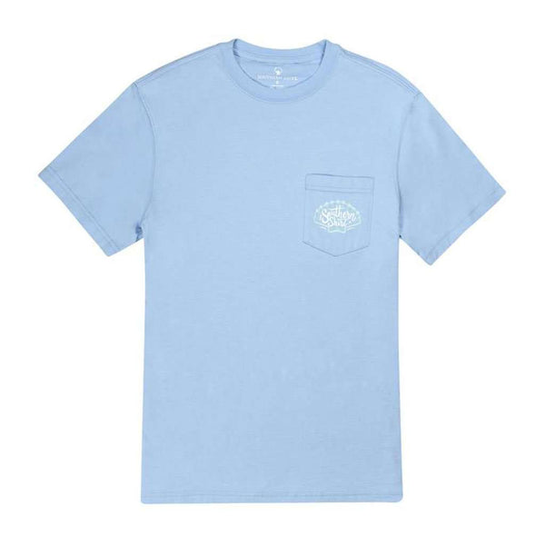 Mermaid Vibes SS in Placid Blue by The Southern Shirt Co.. - FINAL SALE