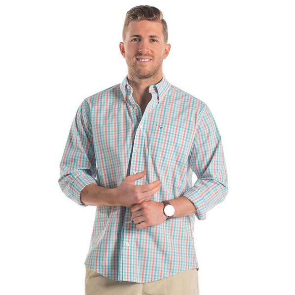 The Southern Shirt Co. Palmetto Check Button Down in Havana by The Southern Shirt Co..